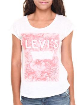 Levi's - Faded Floral Burnout Logo Hi-Low Tee