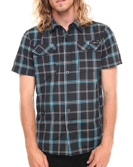 Enyce - Men Black Kenneth Street Fit S/S Button-Down - $15.99