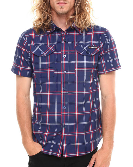 Enyce - Men Navy Kenneth Street Fit S/S Button-Down