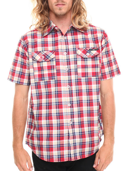 Enyce - Men Red Geek S/S Button-Down
