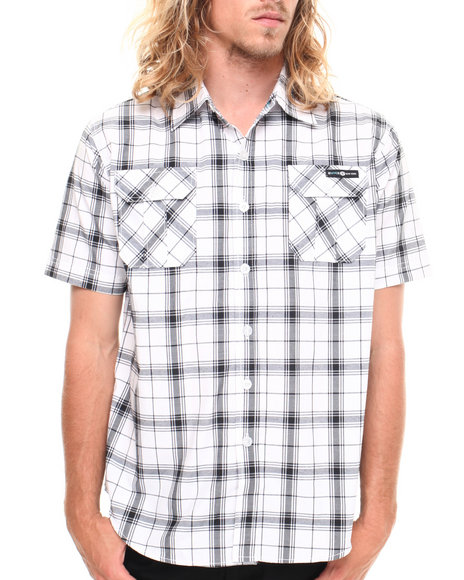 Enyce - Men Black Highland S/S Button-Down - $15.99