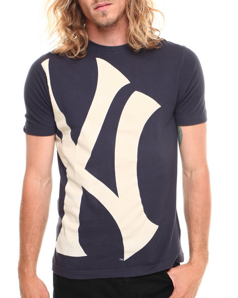 Nba, Mlb, Nfl Gear - Men Navy Wright & Ditson New York Yankees Overgrown Premium S/S Tee