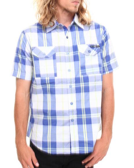 Enyce - Men Blue Logan S/S Button-Down