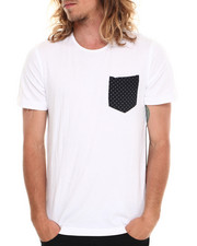 Men - Printed Polka Dot Long Hem Tee