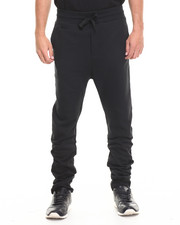 Men - Knit Fleece Drop-Crotch Slim Sweatpant
