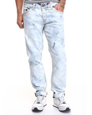 True Religion - Geno Super T Bleach-Out Wash Denim