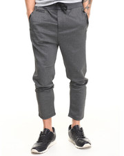 Men - Marl Tricot Vegan Leather Trim Jogger Pant