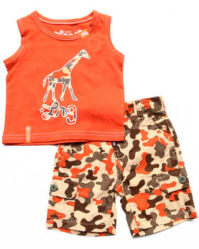 LRG - 2 PC SET - TANK & CAMO SHORTS (NEWBORN)