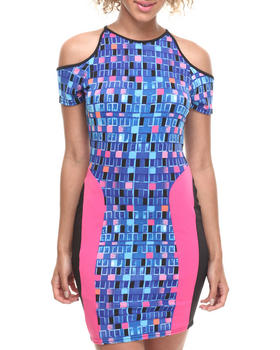Baby Phat - Cold Shoulder Pieced Dress