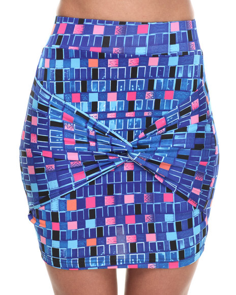 Baby Phat - Women Multi Tie Wrapped Front Skirt - $14.99