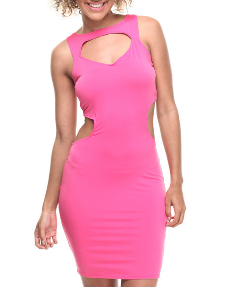 Baby Phat - Women Pink Open Back Dress