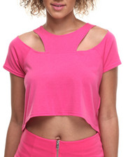 Women - Cut-Out Cropped Top