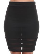 Women - Mesh Inserts Skirt
