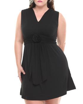 Basic Essentials - Karen Shortsleeve Dress W/Ruching