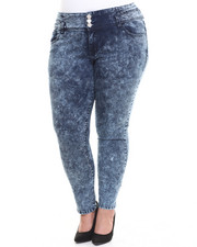 Plus Size - Icy Blue High-waist Skinny Ankle Jean (Plus)