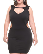 Plus Size - Open Back Dress (Plus)