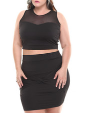 Plus Size - Mesh Crewneck Top (Plus)
