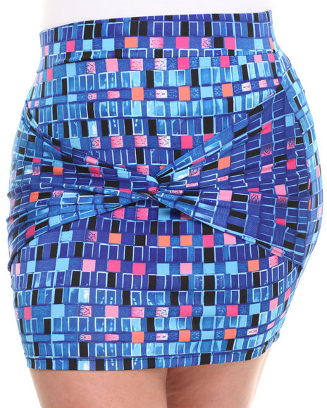 Baby Phat - Women Multi Tie Wrapped Front Skirt (Plus)