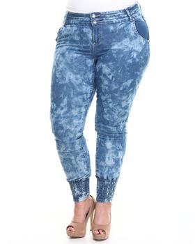 Apple Bottoms - Smocked Ankle Skinny Jean (Plus)