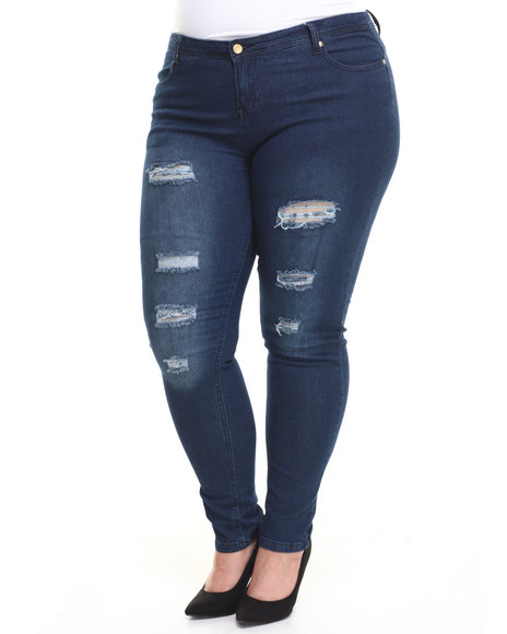Apple Bottoms - Distructed Skinny Jean (Plus)