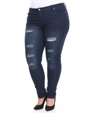 Women - Distructed Skinny Jean (Plus)