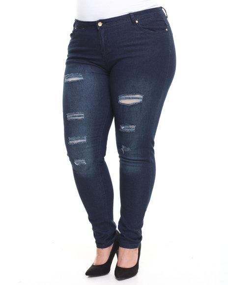Apple Bottoms - Distructed Skinny Jean (Plus)