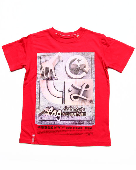 Lrg - Boys Red Seven Tee (8-20)