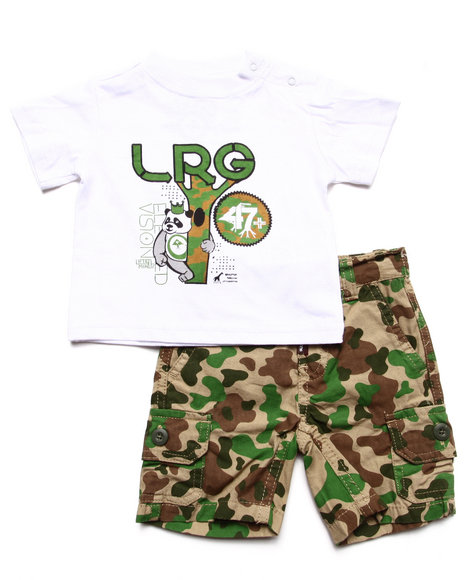 LRG - Boys Camo 2 Pc Set - Tee & Camo Shorts (Newborn)