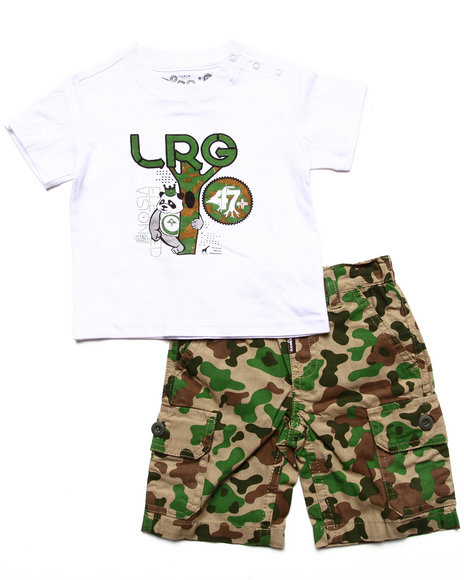 LRG - Boys Camo 2 Pc Set - Tee & Camo Shorts (Infant)