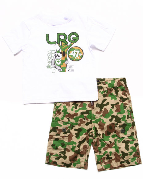 LRG - Boys Camo 2 Pc Set - Tee & Camo Shorts (2T-4T)