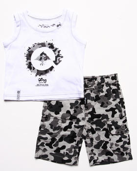 LRG - 2 PC SET - TANK & CAMO SHORTS (INFANT)