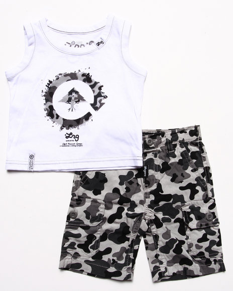 LRG - Boys Camo 2 Pc Set - Tank & Camo Shorts (Infant)