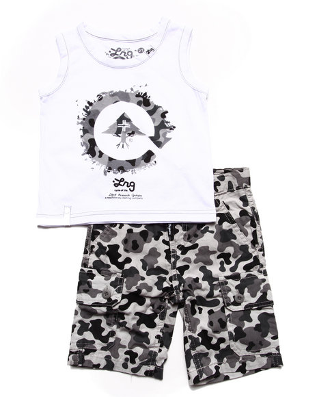 LRG - Boys Camo 2 Pc Set - Tank & Camo Shorts (2T-4T)