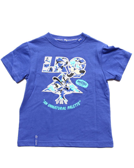 LRG Boys Blue Wolf Camo Tree Tee (2T-4T)