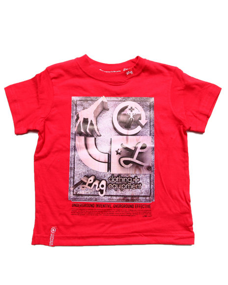 LRG Boys Red Seven Tee (2T-4T)