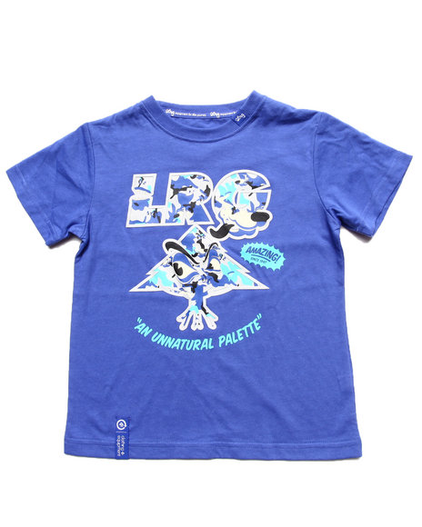 LRG Boys Blue Wolf Camo Tree Tee (4-7)