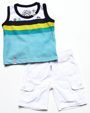 Sets - 2 PC SET - STRIPED TANK & CARGO SHORTS (INFANT)