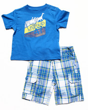 Sets - 2 PC SET - TEE & PLAID SHORTS (INFANT)