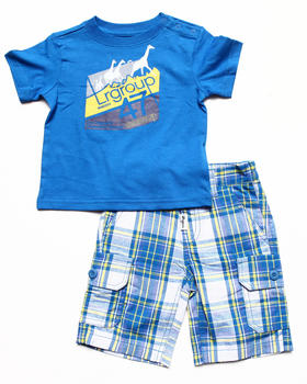 LRG - 2 PC SET - TEE & PLAID SHORTS (INFANT)
