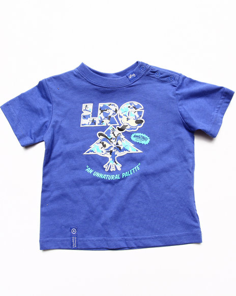 LRG Boys Blue Wolf Camo Tree Tee (Infant)