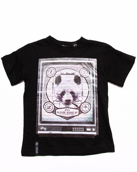 LRG Boys Black Channel 47 Panda Tee (4-7)