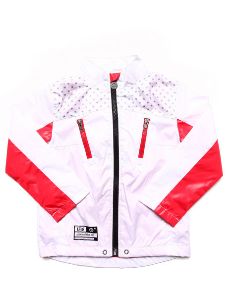 LRG Boys White State Of The Art Windbreaker (4-7)