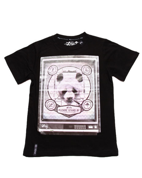 LRG Boys Black Channel 47 Panda Tee (8-20)
