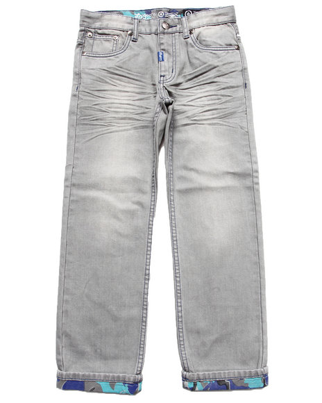 LRG - Boys Grey Anatual Pallette Straight Jeans (8-20)