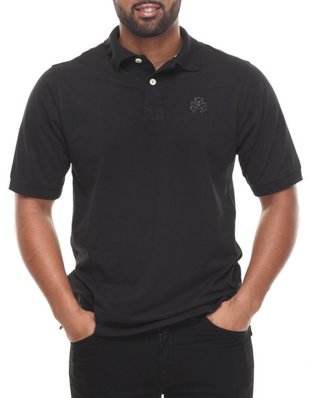 Akademiks - Men Black Ralph  Solid Pique Polo Shirt