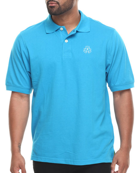 Akademiks Blue Ralph Solid Pique Polo Shirt