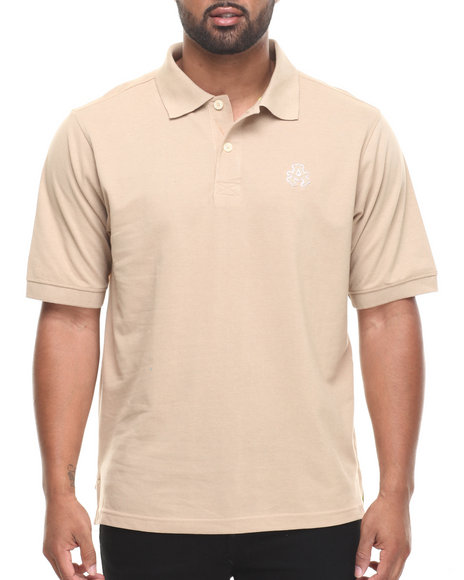 Akademiks - Men Khaki Ralph  Solid Pique Polo Shirt - $14.99