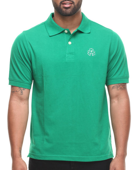 Akademiks - Men Green Ralph  Solid Pique Polo Shirt - $14.99