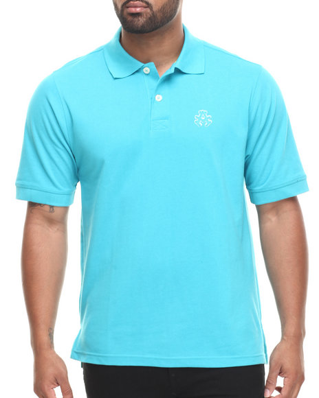Akademiks - Men Teal Ralph  Solid Pique Polo Shirt