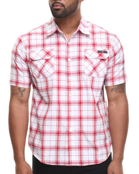 Enyce Red Highland S/S Button-Down